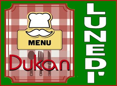 Menù del lunedì per la dieta Dukan dei sette giorni