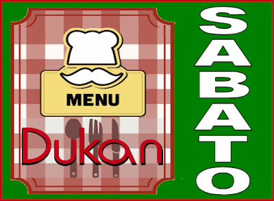 Menù del sabato per la dieta Dukan dei sette giorni
